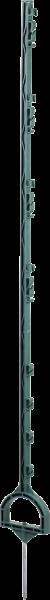 10 Stk. 1,55 m Steigbügelpfahl, grün, mit Steigbügelfußtritt, 8 Drahthalter