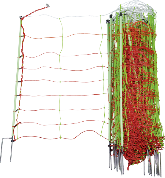Patura TornadoXL-Elektrozaunnetz Kombi, Höhe 90 cm, Länge 50 m, Pfähle mit Doppelspitze