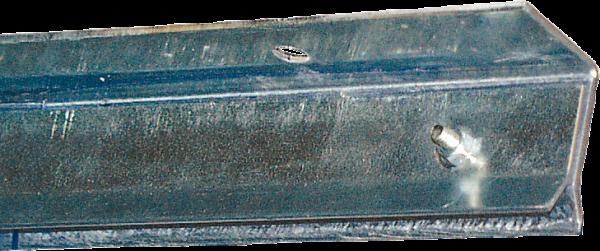 Klemmprofil, Unten-Montage, für Streifenvorhang, Länge 0,93 m