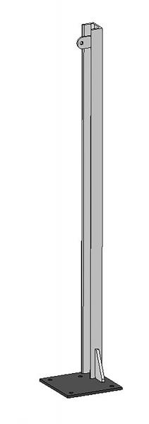 U-Profil 65x42x5,5 mm, L = 1,20 m, mit Bodenplatte rechts, vz