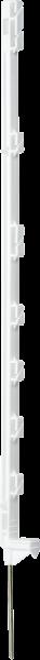 10 Stk. Kunststoffpfahl Compact 1,05 m mit 7 Haltern