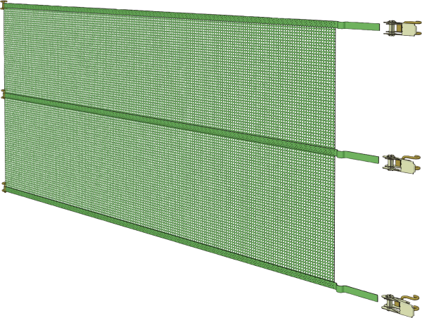 Windschutz-Spannpanel, Breite 6,10 m, Höhe 1,0 m