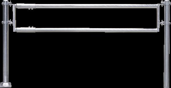 Futtertischabtrennung 2-rohrig, Länge 6 m, 2 Streben