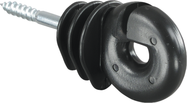 25 Stk. Qualitäts-Ringisolator, mit Holzgewinde, 6 mm Schaft