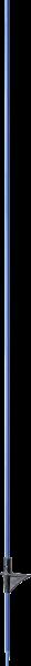 10 Stk. Glasfiberpfahl 10 mm, 1,60 m, mit Trittstufe, blau