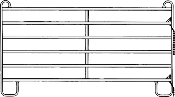 Panel-6, Länge 2,40 m, Höhe 1,70 m