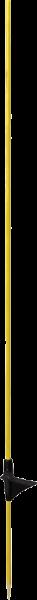 10 Stk. Glasfiberpfahl 10 mm, Länge 1,15 m, eingeklebte Trittstufe
