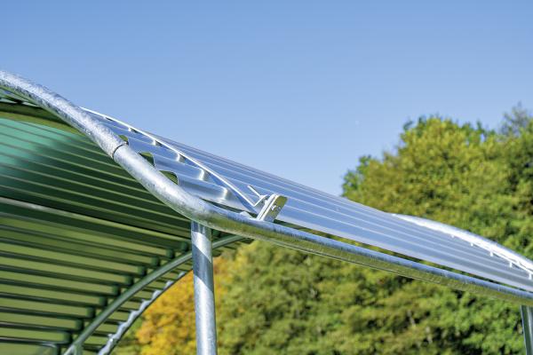 Dachkanten-Schutzbügel für Compact-Viereckraufe