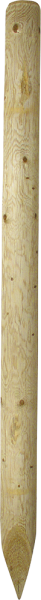 2,00 m Ø 10 cm Holzpfosten, imprägniert, gespitzt