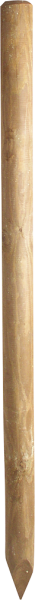 1,75 m Ø 7 cm Holzpfosten, imprägniert, gespitzt,