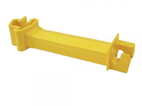 25 Stk. Abstand-Isolator für T-Pfosten, gelb, für Draht, Litzen und Seile