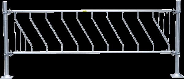 Kälber-Schrägfressgitter, 5 Plätze, 2 m