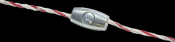 10 Stk. Litzenverbinder, verzinkt, für Litzen bis 2,5 mm