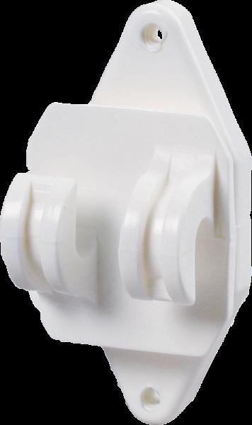 25 Stk. Festzaun-Isolator, weiss, für Seil und HippoWire