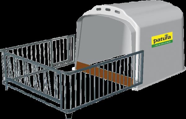 Großraum-Kälberhütte XL mit Umzäunung