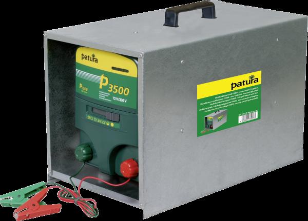 Patura P3500 mit offener Tragebox, Kombi-Weidezaungerät 230V/12V