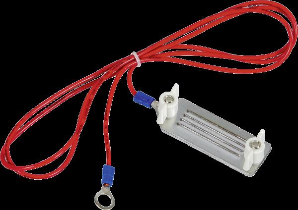 Zaunanschlußkabel Breitband, Edelstahl-Klemmplatten 40 mm, 8 mm Ringöse