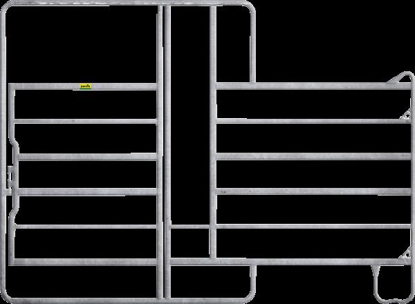 Panel-6 mit Tor und Fressgitter, Länge 2,40 m, Höhe 2,20 m, 1 Fressplatz