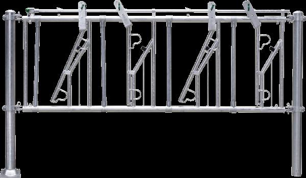 Selbstfangfreßgitter SV 6/4, 6 Fressplätze, Nennlänge 400 cm