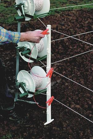 2 Stk. 3-fach Zaunverbindungskabel, isolierte Edelstahl-Klemmen, für 3-drähtige Zäune