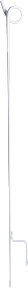 10 Stk. Federstahlpfahl (7 mm); Länge 1,07 m, mit Ösenisolator