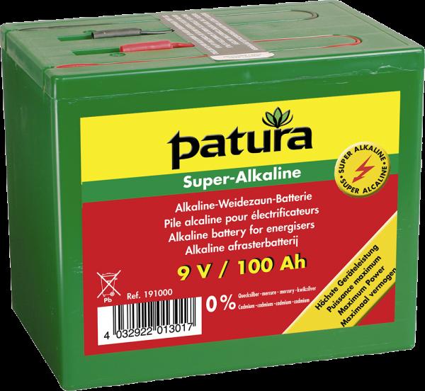 Super-Alkaline Weidezaun-Batterie 9 V / 100 Ah