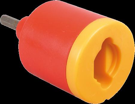 Isoflott, Einschraubvorsatz für Akkubohrer (für Ring- und Schlitzisolatoren)